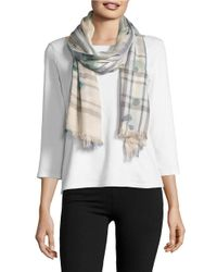 Lord & Taylor | Multicolor Fraas Plaid Patterned Scarf | Lyst