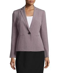 Nipon Boutique | Purple Notched Lapel Twill Jacket | Lyst