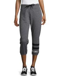 Calvin Klein | Black Ankle-length Heathered Sweatpants | Lyst
