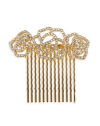 Lord & Taylor | Metallic Stone-accented Floral Hair Comb | Lyst