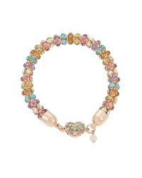Betsey Johnson | Metallic Buzz Off Multicolor Mesh Bracelet | Lyst