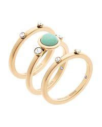 Michael Kors   Metallic Easy Opulence Jade Stacked Ring Set   Lyst
