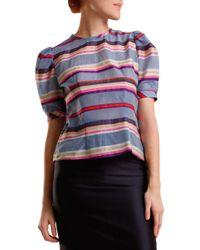Nikki Chasin - Blue Delilah Striped Top - Lyst