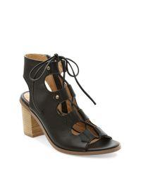 Kensie | Black Elicia Leather Sandals | Lyst