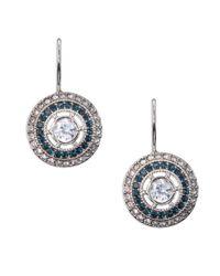 Lauren by Ralph Lauren | Blue Cubic Zirconia Drop Earrings | Lyst