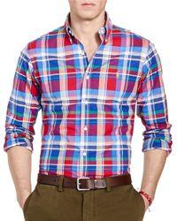 Polo Ralph Lauren   Blue Men's Long-sleeve Slim-fit Stretch-oxford Shirt for Men   Lyst