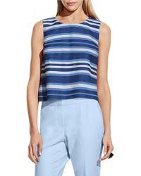 Vince Camuto | Blue Multi-stripe Sleeveless Top | Lyst