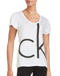 Calvin Klein | White Logo Sleep Tee | Lyst