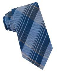 Calvin Klein | Blue Schoolboy Chalk Plaid Silk Tie for Men | Lyst