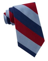 Lord & Taylor | Red American-bar Stripe Silk Tie for Men | Lyst