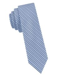 William Rast | Blue Striped Silk Tie for Men | Lyst