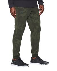 Under Armour | Green Ua Rival Fleece Patterned Jogger Pants for Men | Lyst