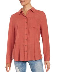 Free People | Red That's A Wrap Oversized Oxford Shirt | Lyst
