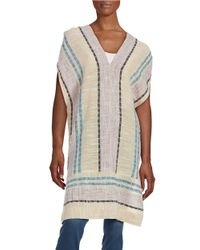Free People | Natural So Easy Poncho Dress | Lyst