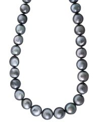 Effy | Gray 9mm Grey Baroque Tahitian Pearl Necklace | Lyst