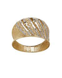 Lord & Taylor - Metallic Gold Rush Asymmetrical 14k Yellow Gold Ring - Lyst
