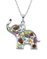Lord & Taylor | Blue Multi-stone Elephant Pendant Necklace | Lyst