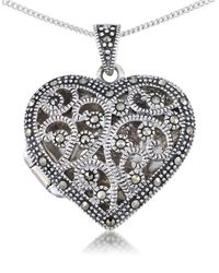 Lord & Taylor | Metallic Sterling Silver Heart Pendant Necklace | Lyst