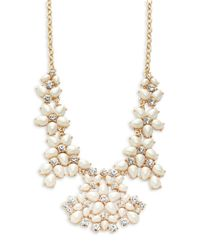 kate spade new york | Metallic Faux-pearl And Crystal Collar Necklace | Lyst