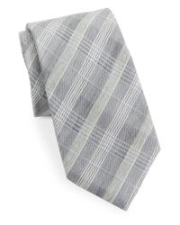 Vince Camuto | Black Plaid Silk-blend Tie for Men | Lyst