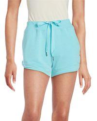 Nanette Lepore - Blue Laser-cut Shorts - Lyst