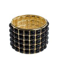 Kenneth Jay Lane - Metallic Resin Cabochon Wide Bracelet - Lyst