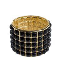 Kenneth Jay Lane   Metallic Resin Cabochon Wide Bracelet   Lyst