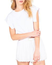 Kendall + Kylie | White Flutter Sleeve Crop Top | Lyst