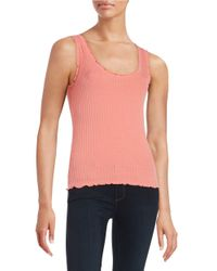 Lord & Taylor | Pink Ribbed Tank Top | Lyst