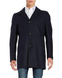 Strellson   Blue Petar Wool-blend Coat for Men   Lyst
