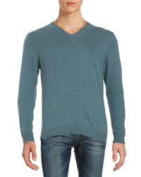 Strellson | Blue Cotton-blend V-neck Sweater for Men | Lyst
