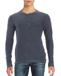 Strellson | Blue Lennon Cotton Henley Shirt for Men | Lyst