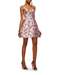 Cynthia Rowley | Pink Secret Garden Jacquard Fit-and-flare Dress | Lyst