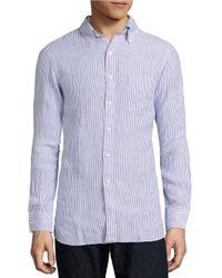 Polo Ralph Lauren   Purple Striped Cotton Shirt for Men   Lyst