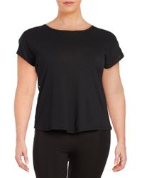 Marc New York - Black Cowl Back Athletic Top - Lyst