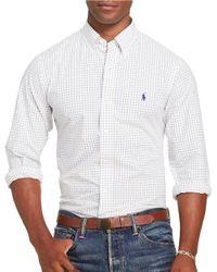 Polo Ralph Lauren | White Check Poplin Long-sleeve Woven Shirt for Men | Lyst