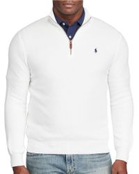 Polo Ralph Lauren | White Pima Cotton Half-zip Pullover for Men | Lyst