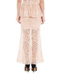 Bardot - Pink Valerie Lace Maxi Skirt - Lyst