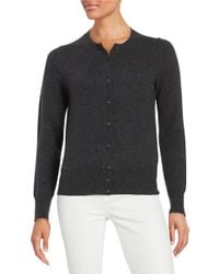Lord & Taylor | Gray Cashmere Cardigan | Lyst