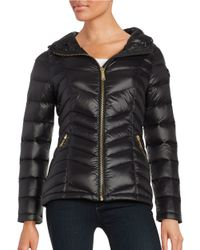 Calvin Klein | Black Short Packable Down Puffer Coat | Lyst