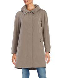 Gallery   Brown Plus Hooded A-line Swing Coat   Lyst