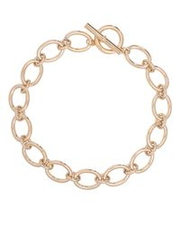 Lauren by Ralph Lauren | Metallic 12k Goldplated Brass Oval Link Necklace | Lyst