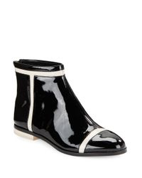 Calvin Klein | Black Cari Patent Leather Ankle Boots | Lyst