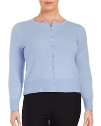 Lord & Taylor | Blue Plus Cashmere Button-front Cardigan | Lyst