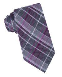 Calvin Klein   Purple Plaid Silk-blend Tie for Men   Lyst
