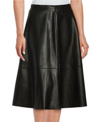 Lord & Taylor | Black Faux Leather A-line Skirt | Lyst