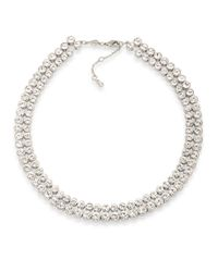 Carolee | Metallic Pave Collar Necklace, 17"