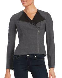 Calvin Klein   Gray Asymmetrical Zip-front Jacket   Lyst
