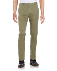 Brooks Brothers Red Fleece | Green Cotton-stretch Chino Pants for Men | Lyst