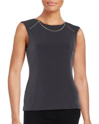 Karl Lagerfeld | Blue Chain-accented Knit Top | Lyst